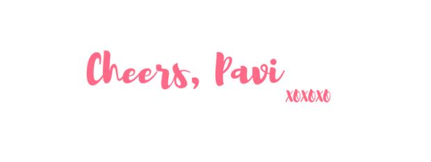 Cheers, Pavi